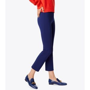 Tory Burch Stacey Navy Blue Ponte Crop Pants